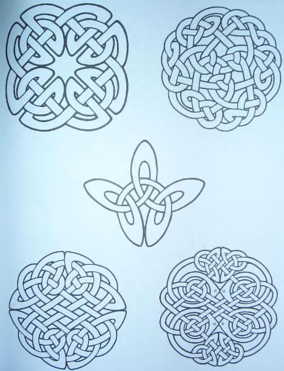 схемы кельтских узоров