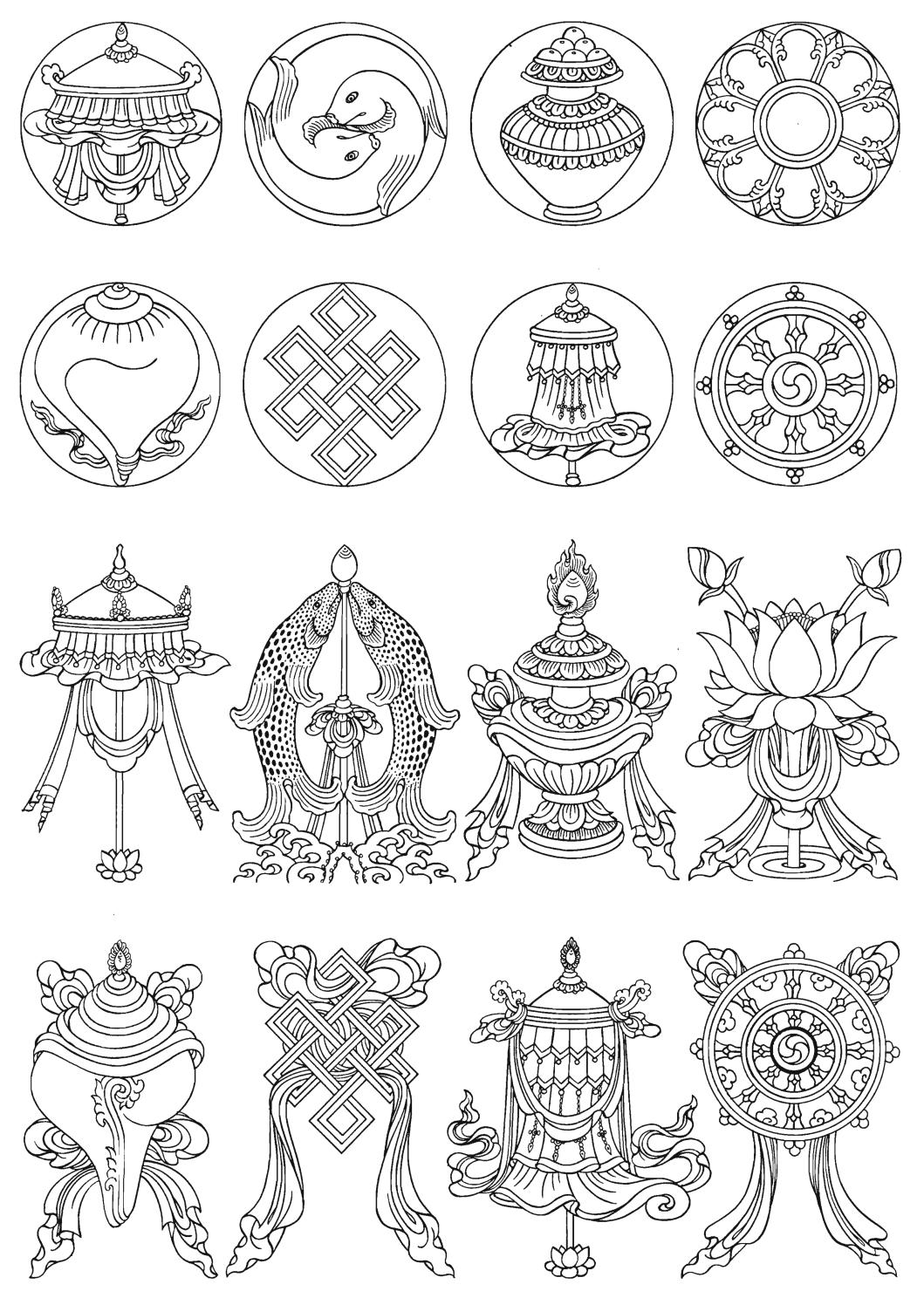 Тибетский буддизм татуировки